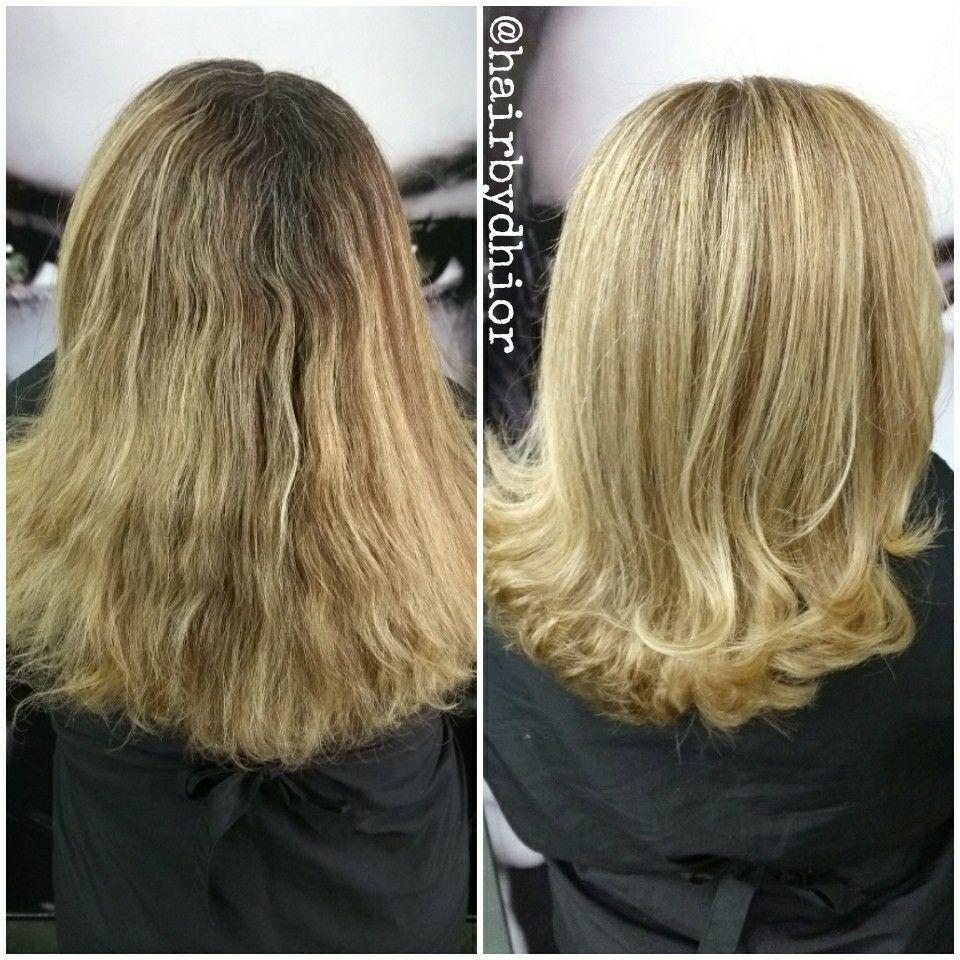 Resultado 😘😂😜 💠 Mechas  💠 Reconstrução 💠 Corte  💠 Escova cabelo cabeleireiro(a)