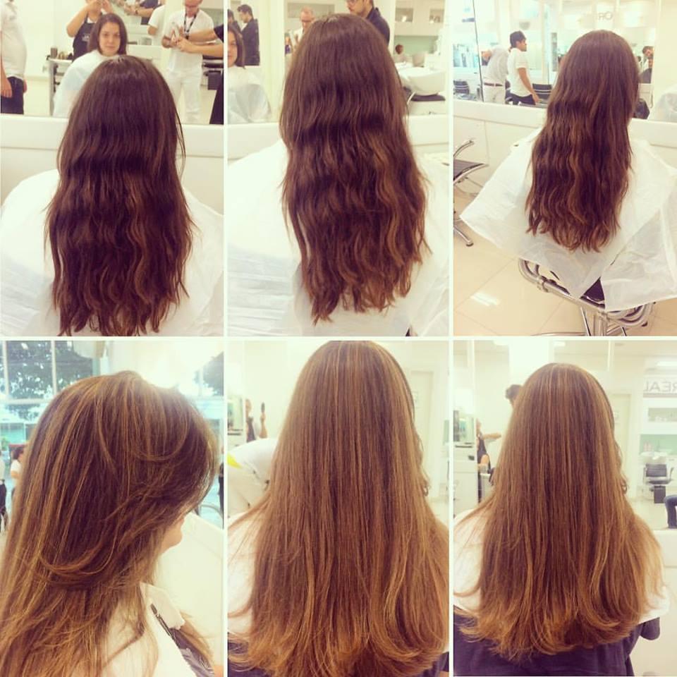 Correção de corte e Mechas douradas com coloração cabelo cabeleireiro(a) maquiador(a)