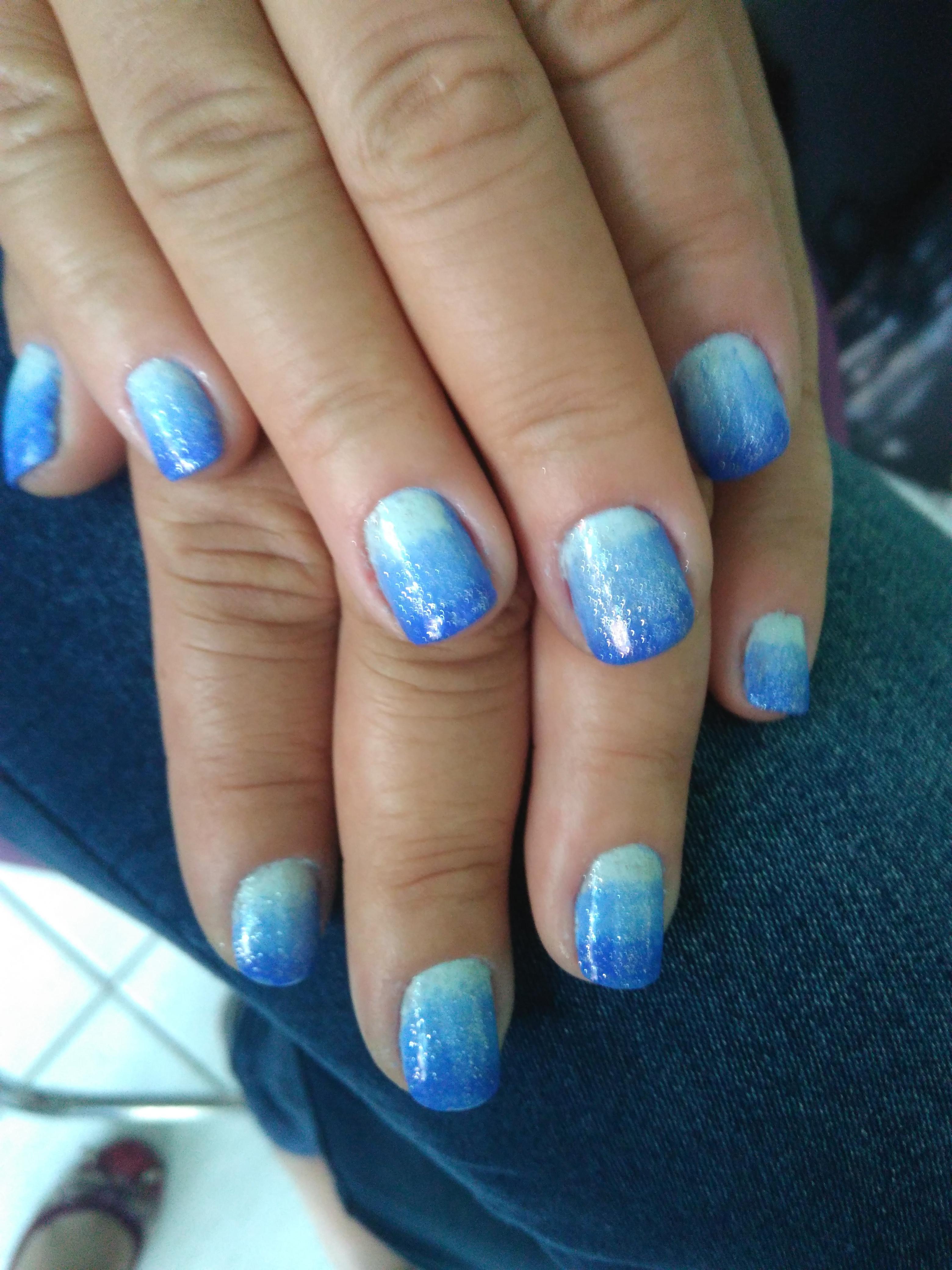 Degradê de cor 😘 unha auxiliar cabeleireiro(a) escovista manicure e pedicure