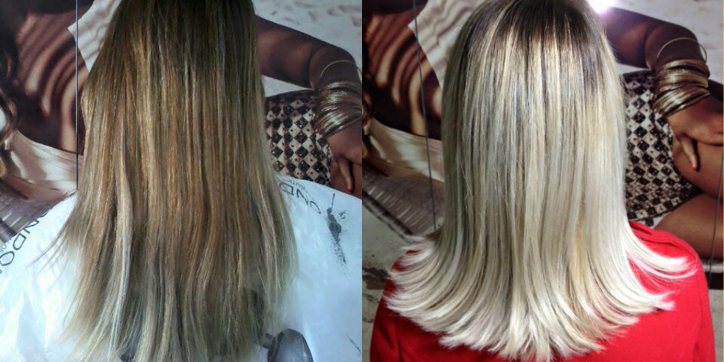 Antes e Depois ! Mechas esfumada raiz!  cabelo cabeleireiro(a) maquiador(a) depilador(a) gerente consultor(a)