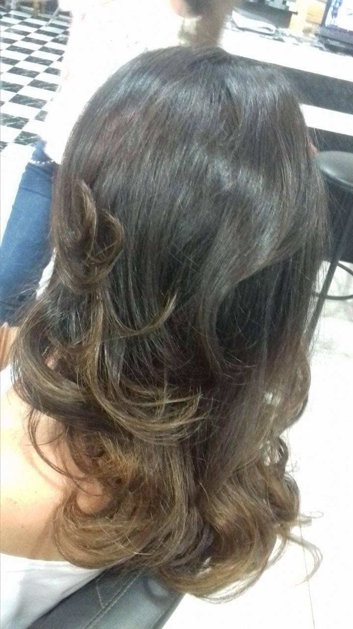 chocolate ombrê, mais escova trabalhada no luxo! cabelo cabeleireiro(a) maquiador(a) depilador(a) gerente consultor(a)