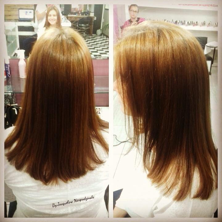 Ruiva  tonalizada! e Corte Reto! cabelo cabeleireiro(a) maquiador(a) depilador(a) gerente consultor(a)