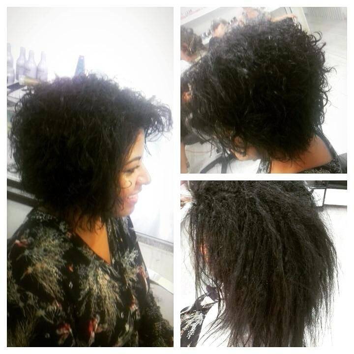 Corte cabelo afro antes...,  e finalizado! cabelo cabeleireiro(a) maquiador(a) depilador(a) gerente consultor(a)