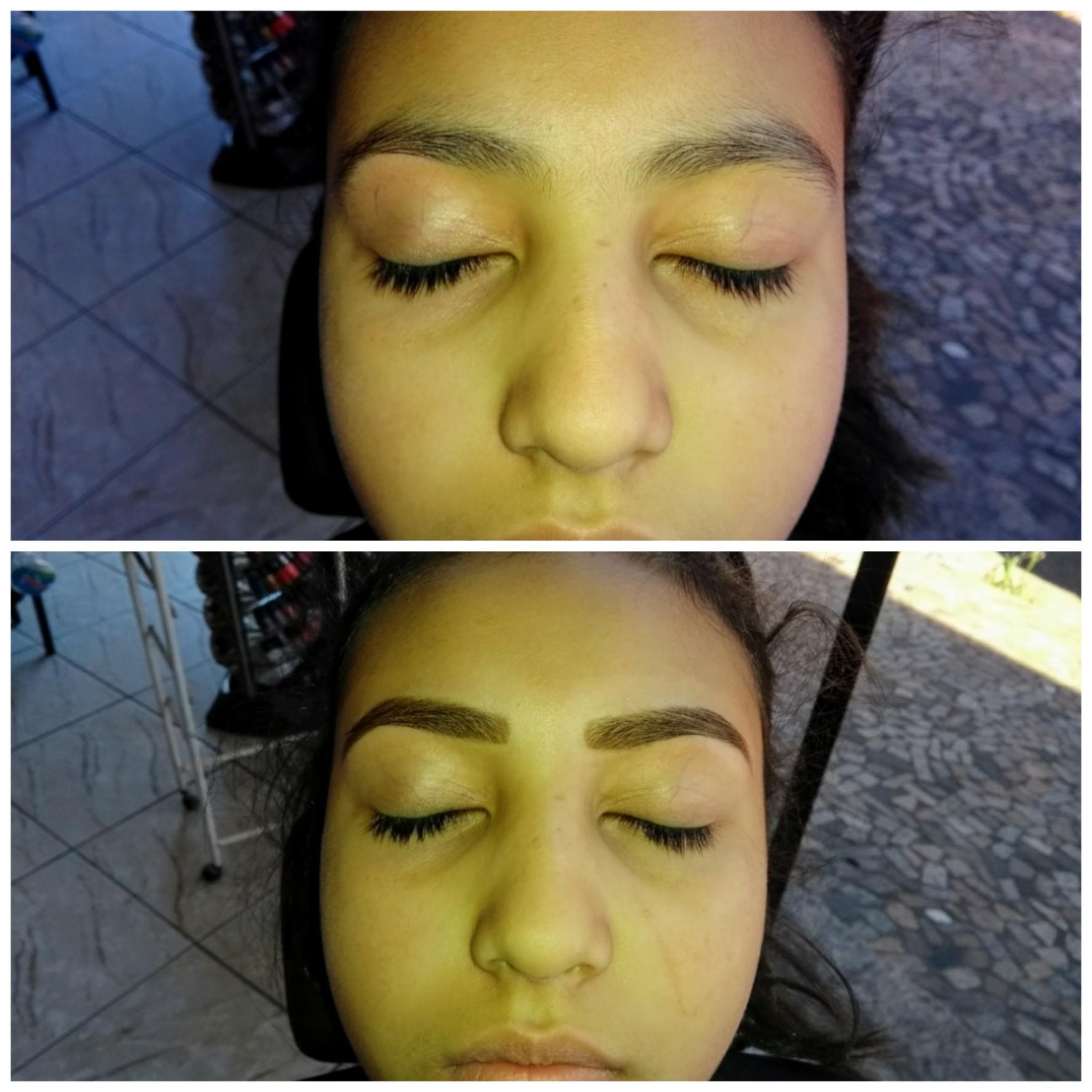 Cliente feliz e satisfeita trabalho realizado....  estética manicure e pedicure depilador(a) designer de sobrancelhas