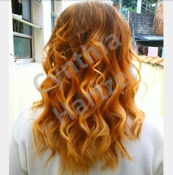 Ombre ruivo cabelo cabeleireiro(a)