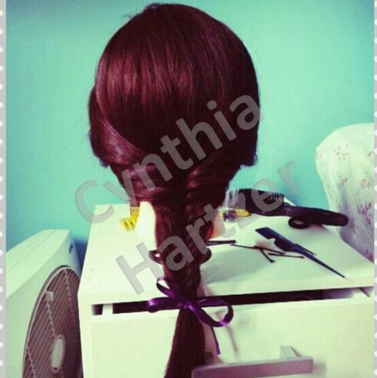 Trança espinha de peixe. cabelo cabeleireiro(a)