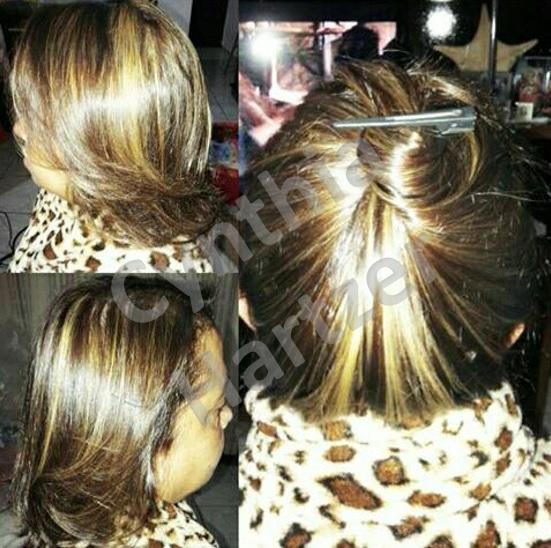 Mechas e hidratação. cabelo cabeleireiro(a)
