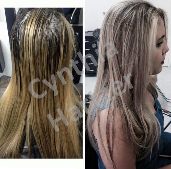 Retoque de luzes e tonalização. cabelo cabeleireiro(a)
