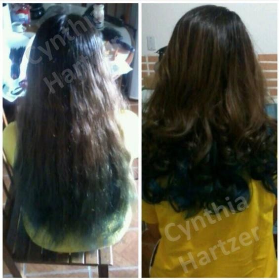 Corte e escova modelada. cabelo cabeleireiro(a)