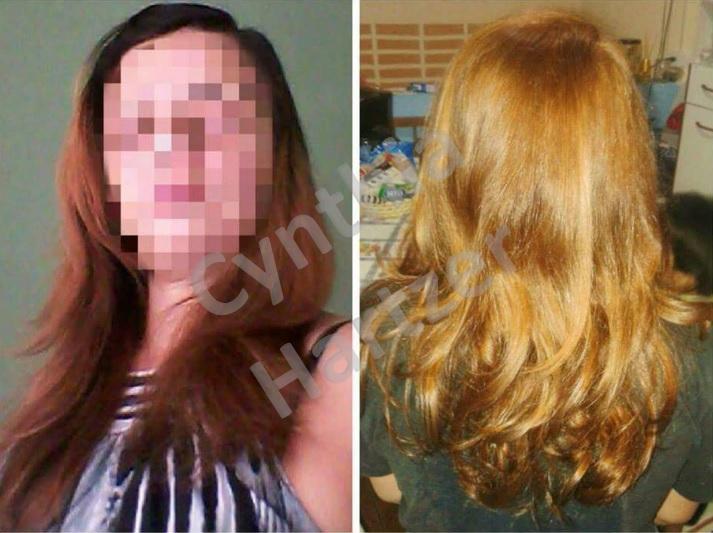 Ruivo acobreado e brilhoso. cabelo cabeleireiro(a)