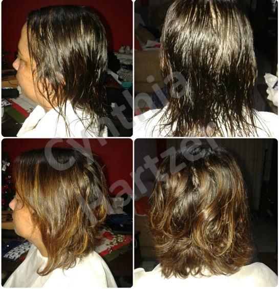 Corte desfiado para proporcionar volume. cabelo cabeleireiro(a)