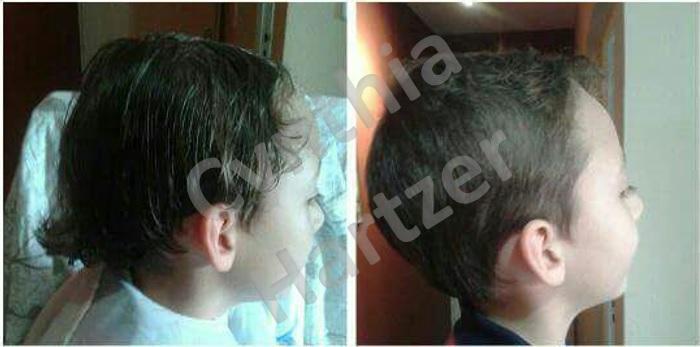 Corte infantil. cabelo cabeleireiro(a)