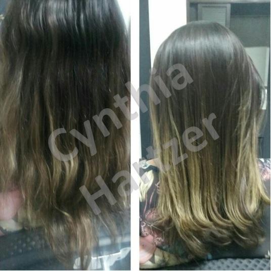 Corte e botox. cabelo cabeleireiro(a)