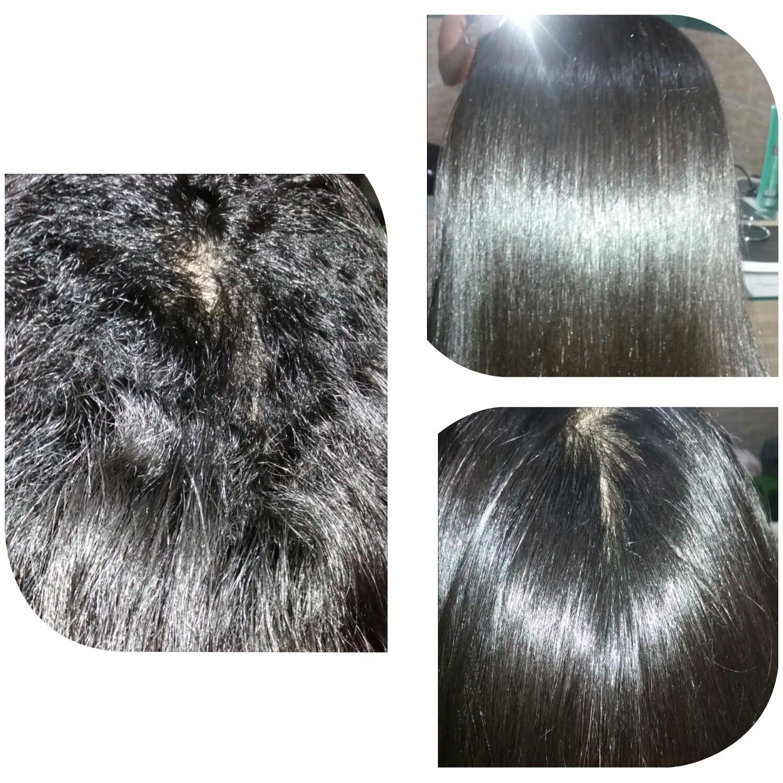 Antes e depois da DEZZARM  cabelo cabeleireiro(a)