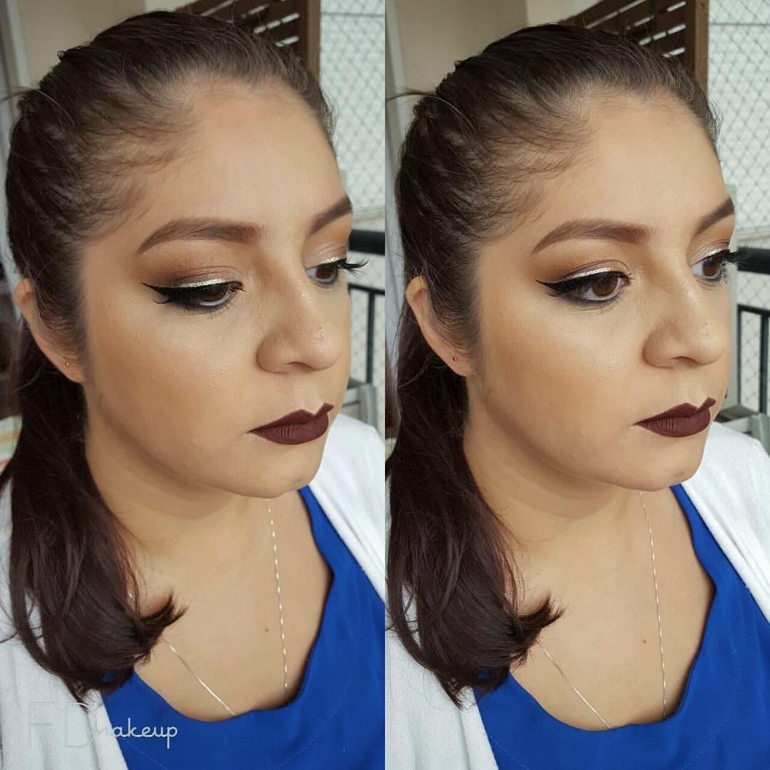 Delineado duplo com glitter #makeup #maquiagemsocial #maquiagemprofissional #fernandadiasmakeup #beauty #makeupartist #maquiadorasp #maquiadoraprofissional  maquiagem maquiador(a) designer de sobrancelhas