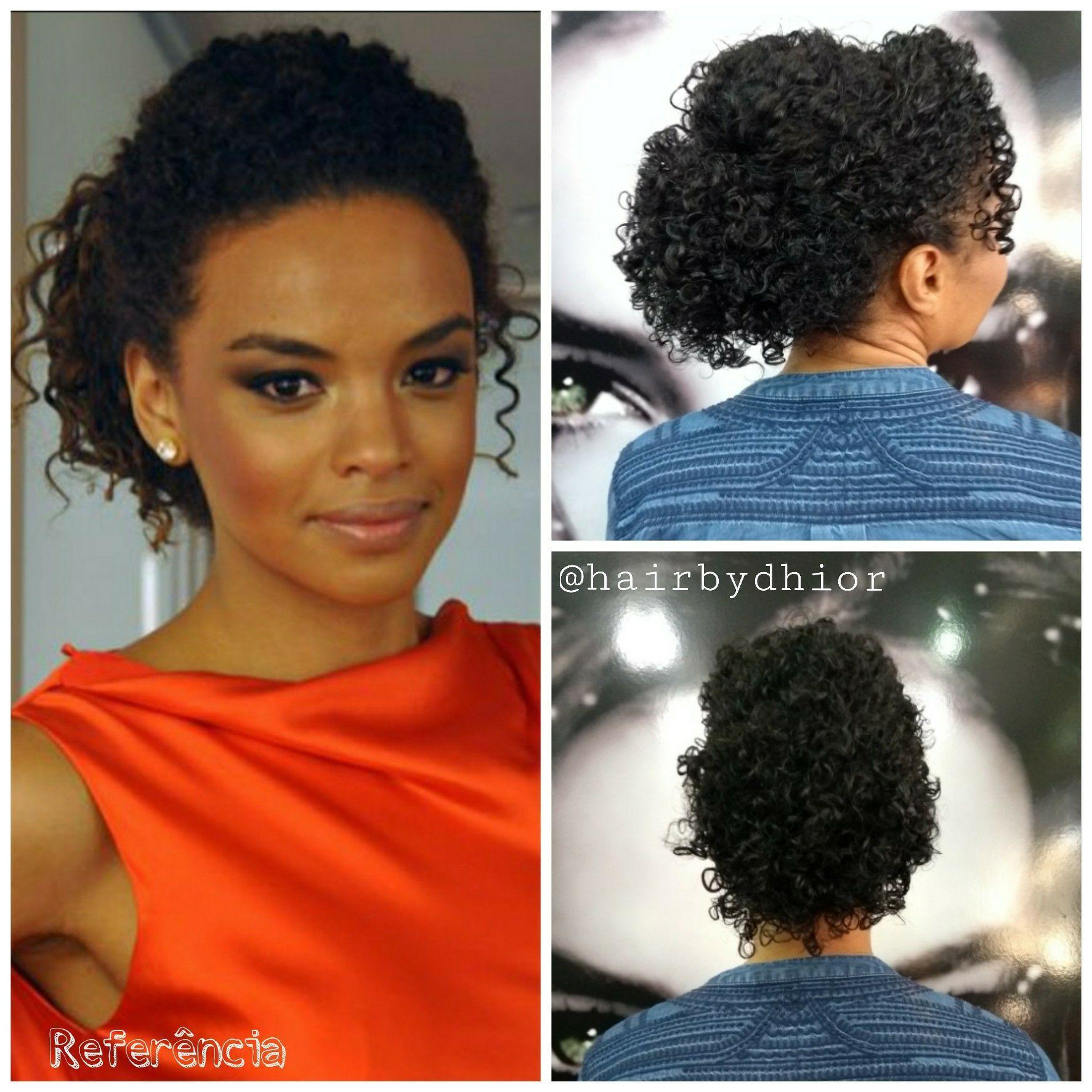 Penteado em Cabelo Cacheado cabelo cabeleireiro(a)