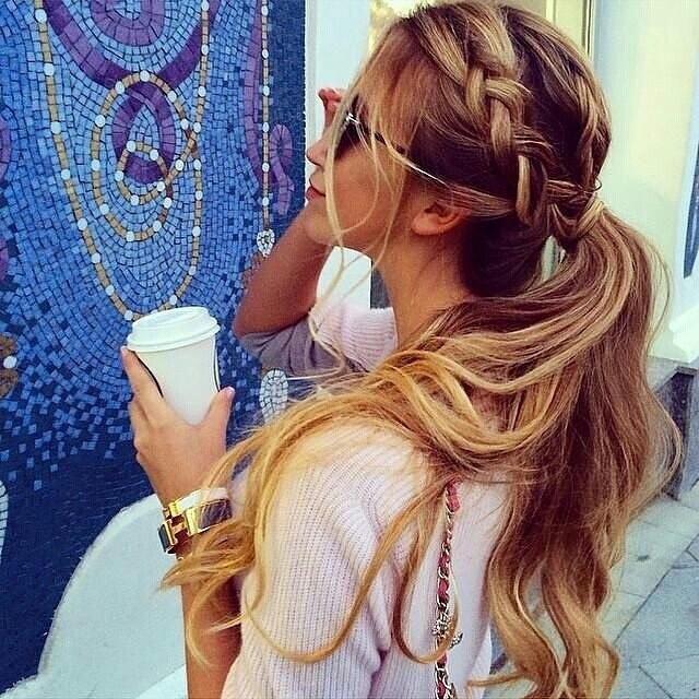 Inspiração  😍😍 #coquedesconequitado #hair #penteado #trança #onebraid #braided #braids  cabelo cabeleireiro(a)
