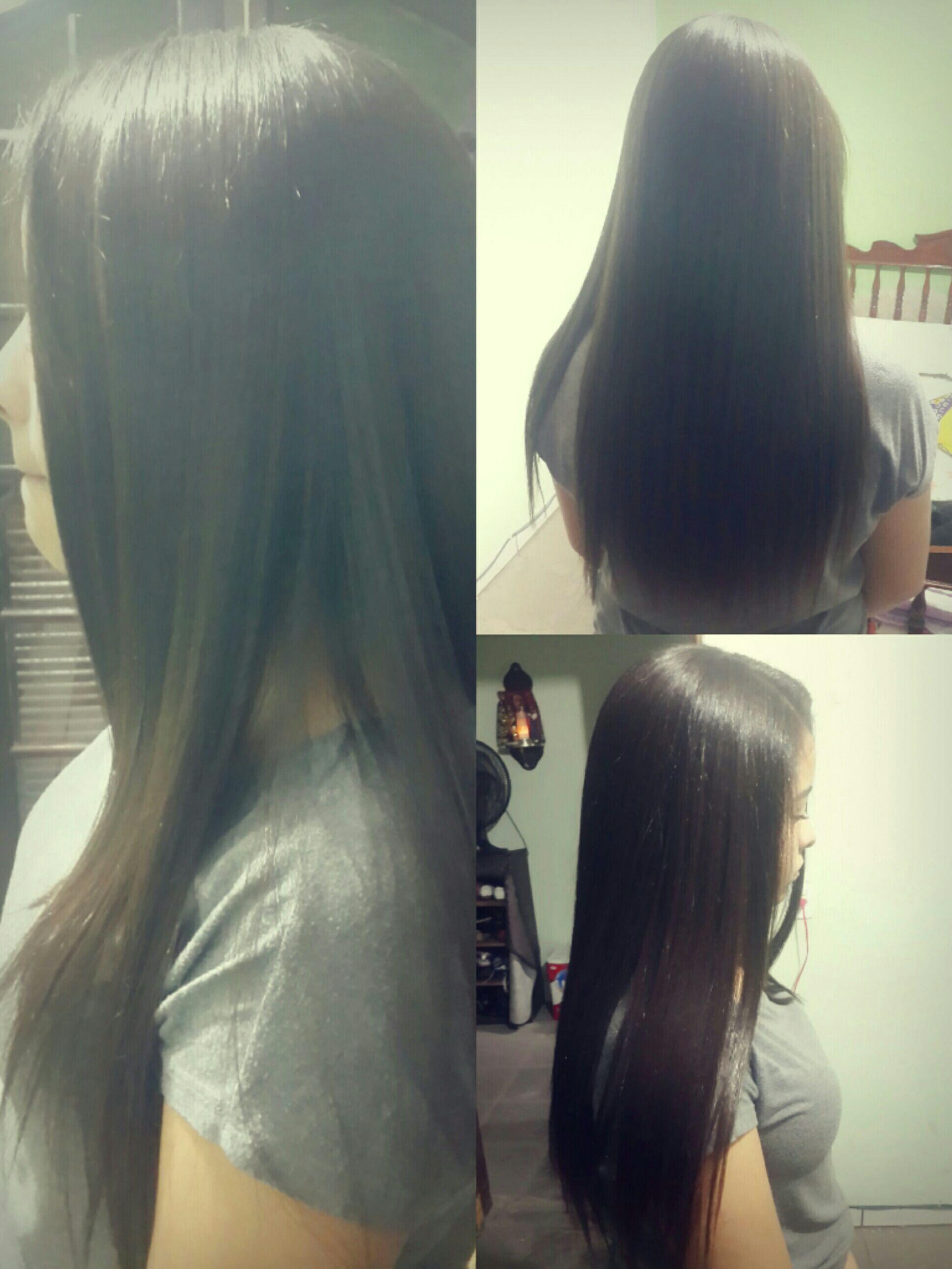 Escova feita por mim. cabelo auxiliar cabeleireiro(a)