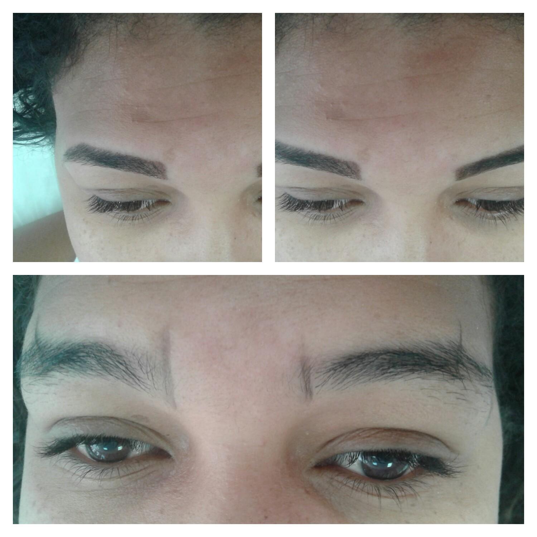 Designer de sobrancelhas com aplicação de henna.  outros auxiliar cabeleireiro(a)