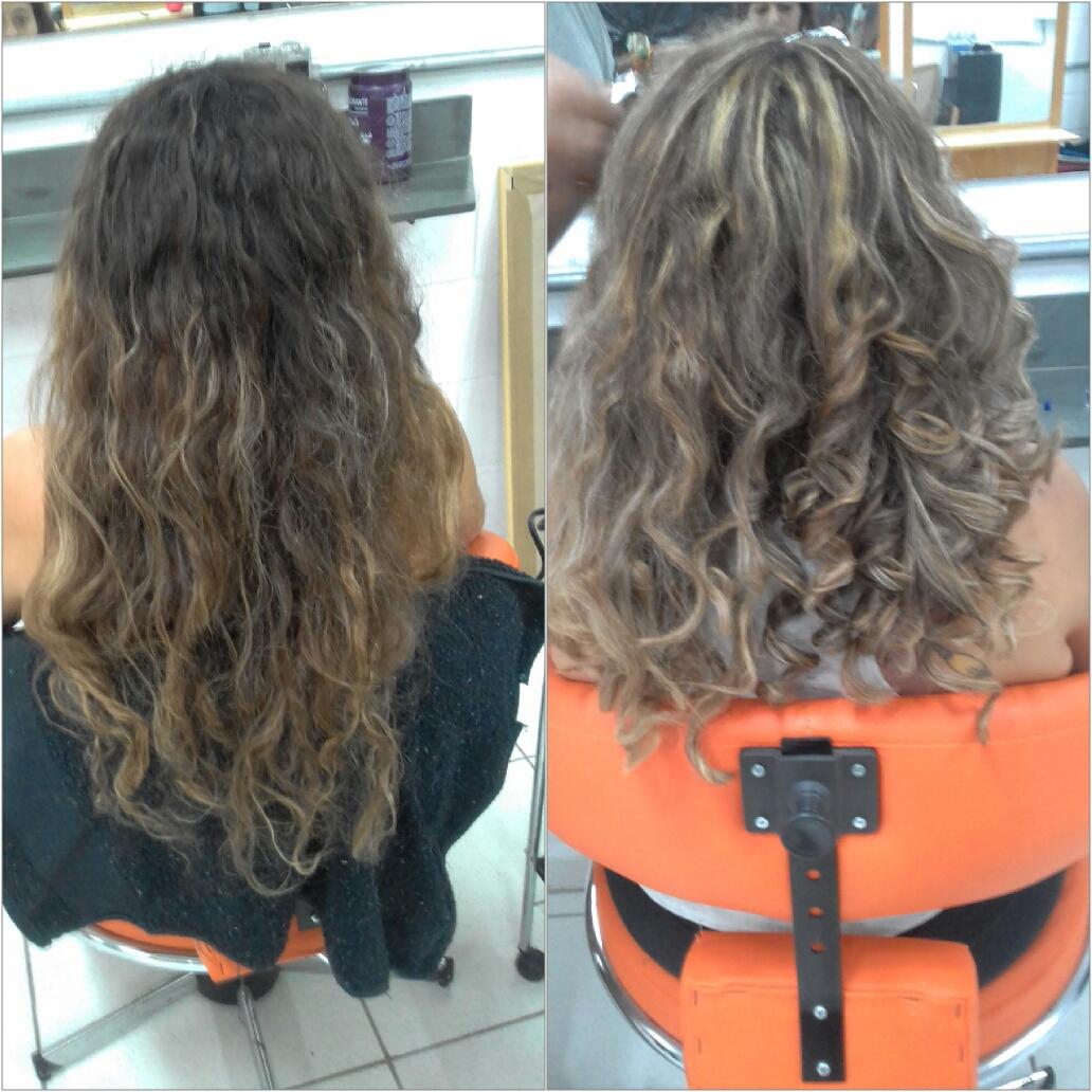 corte , luzes e escova modelada ... #bytabata cabelo auxiliar cabeleireiro(a) manicure e pedicure