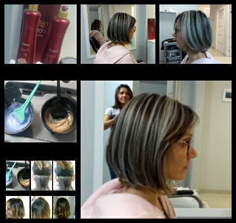 Trabalho de hoje Mechas invertida  Pó descolorante ox 3% + ox 6 % + coloração 5.0  #mechasinvertidas #coloração #riodejaneiro #méier #amomeutrabalho cabelo cabeleireiro(a) maquiador(a) empresário(a)