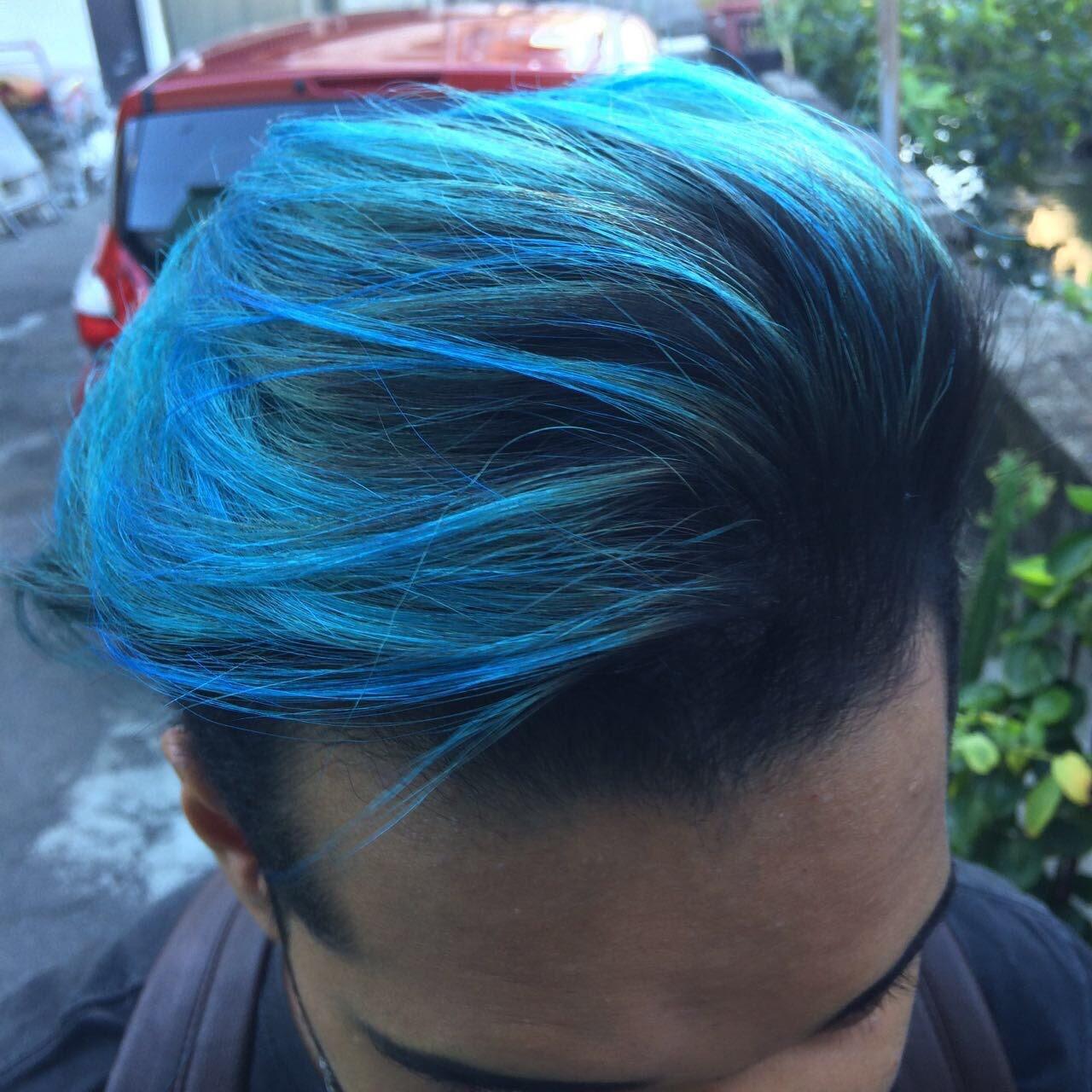 Ombré hair azul 💙 cabelo