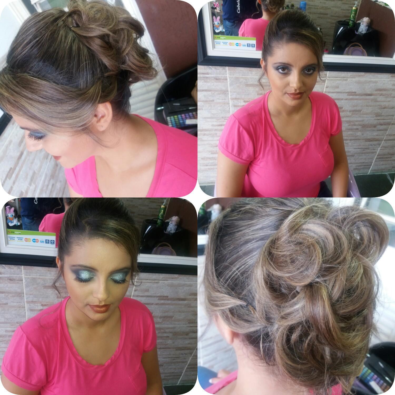 Penteado e maquiagem cabelo cabeleireiro(a) maquiador(a)