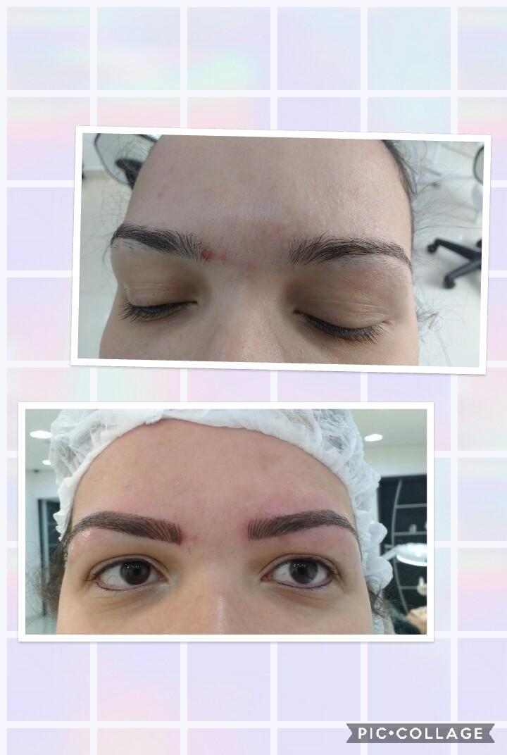Micropigmentação fio a fio estética designer de sobrancelhas micropigmentador(a) gerente