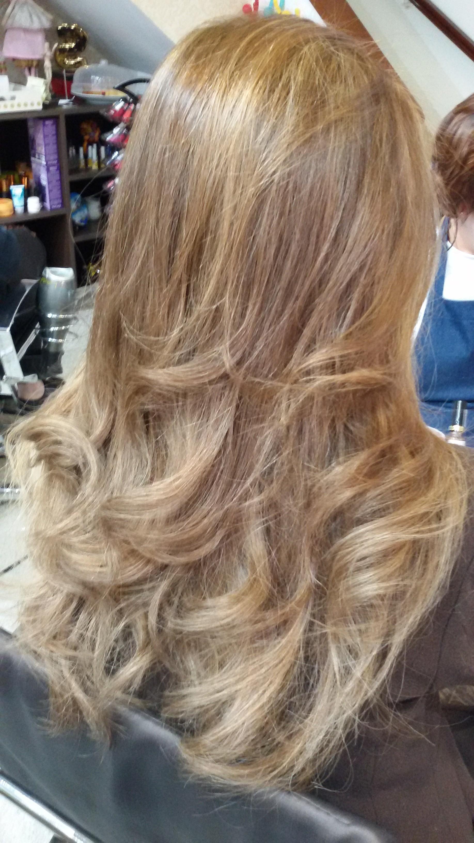 Corte e escova modelada cabelo cabeleireiro(a)