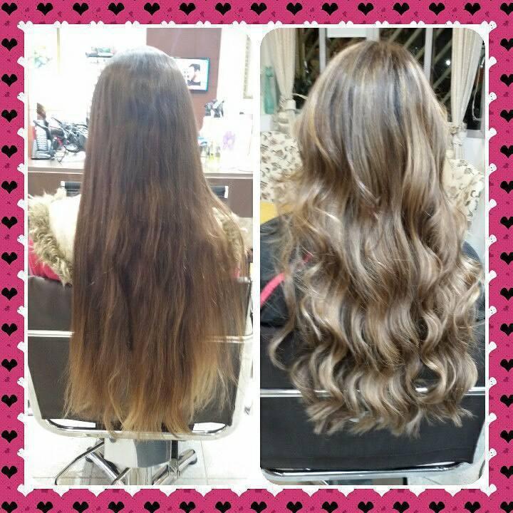 Corte, Mechas, hidratação e escova com babyliss cabelo cabeleireiro(a)