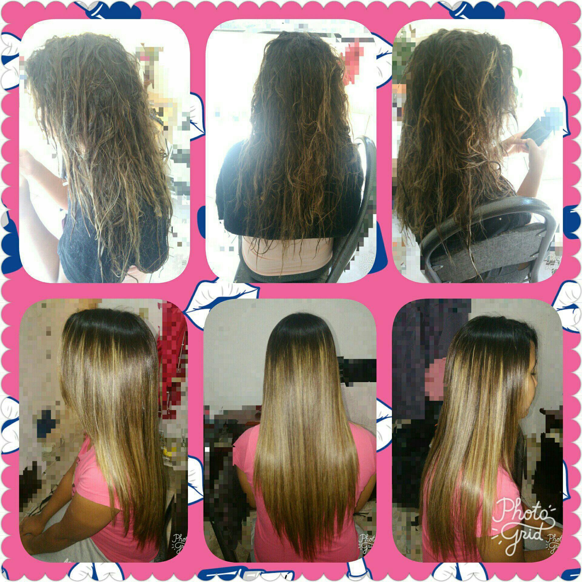 Progressiva antes depôs cabelo auxiliar cabeleireiro(a) escovista manicure e pedicure
