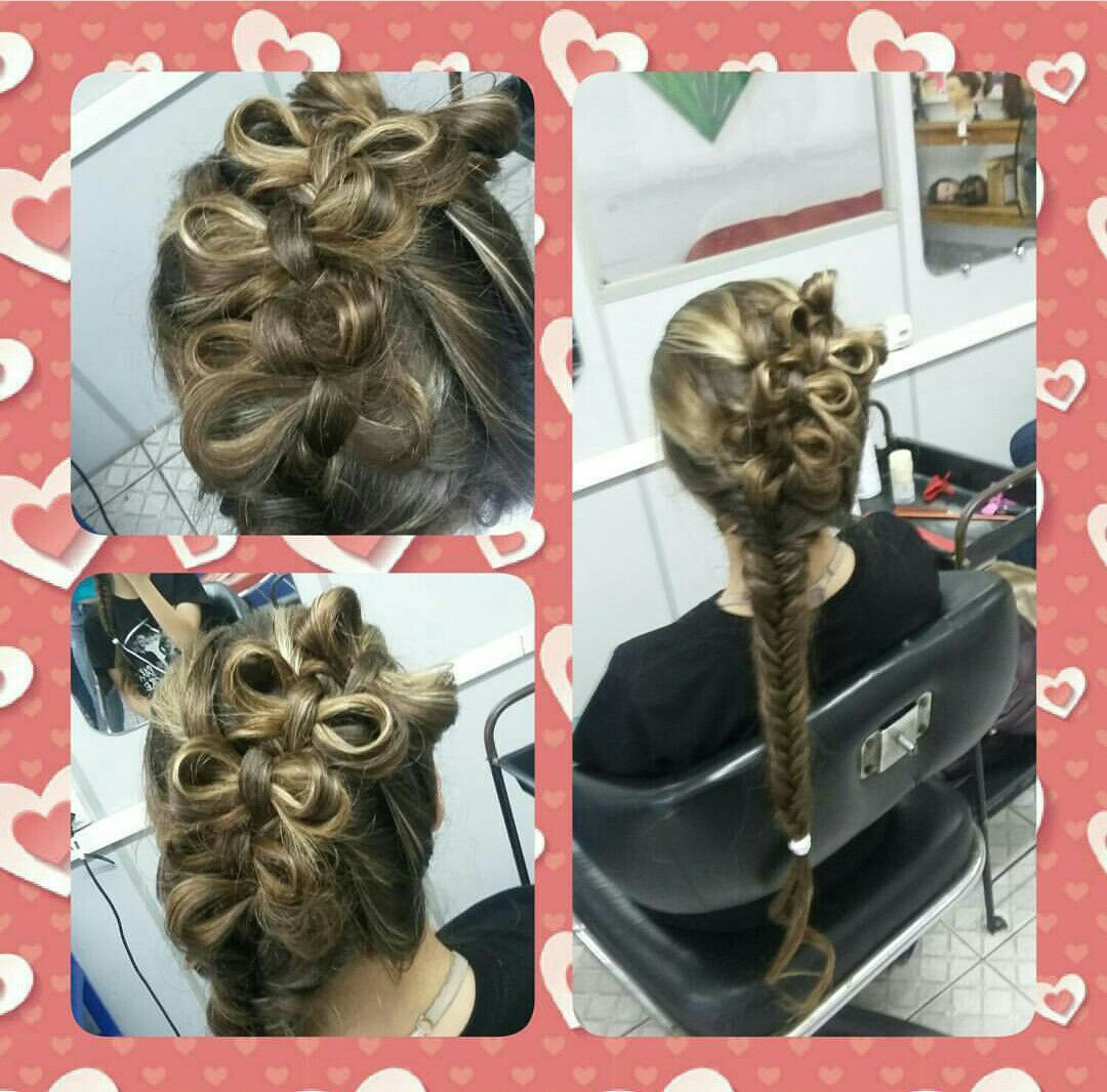 Penteado cabelo auxiliar cabeleireiro(a) escovista manicure e pedicure