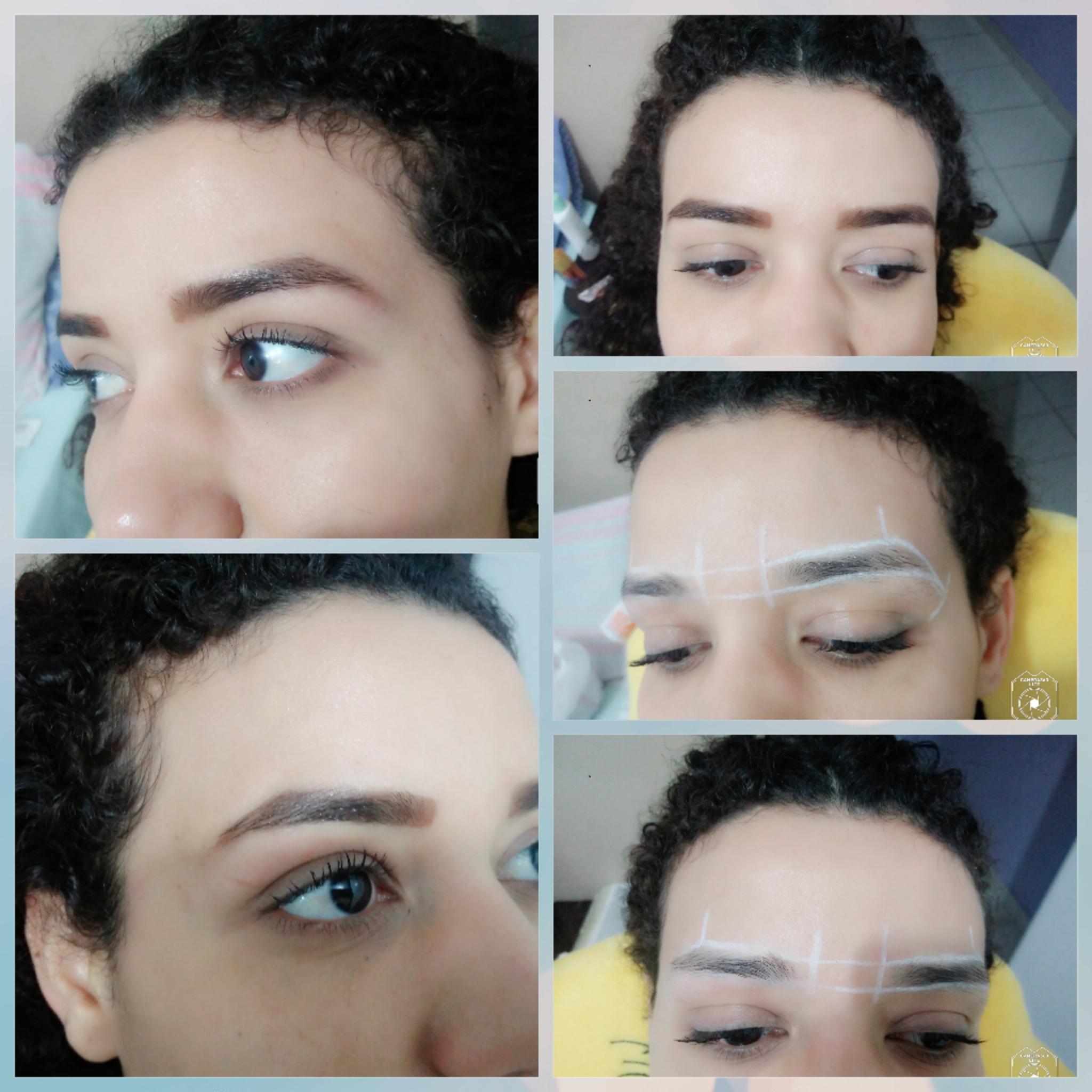 Designer/Modelagem aplicação de henna. Realçando o olhar da cliente. outros designer de sobrancelhas maquiador(a)