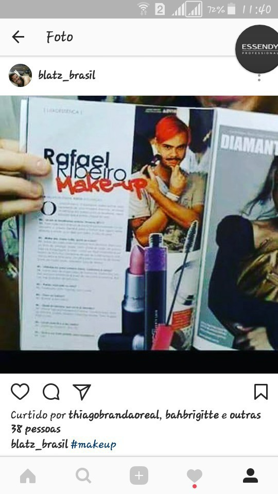 Matéria sobre meu trabalho na revista maquiagem maquiador(a)