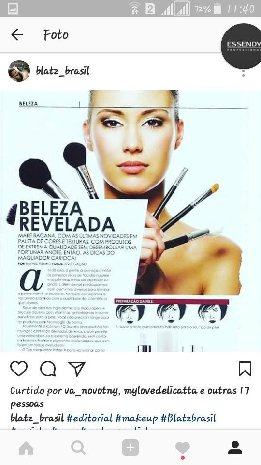 Matéria sobre beleza para revista maquiagem maquiador(a)