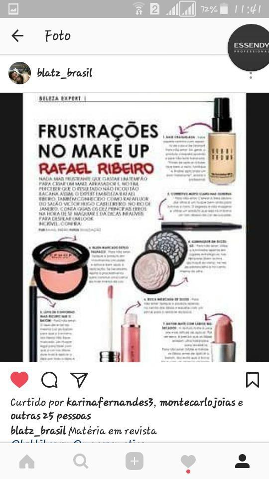 Matéria sobre makes para revista maquiagem maquiador(a)