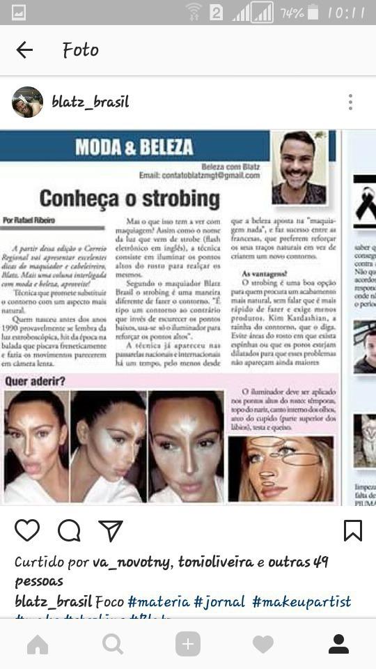 Matéria sobre MAKEUP para jornal maquiagem maquiador(a)
