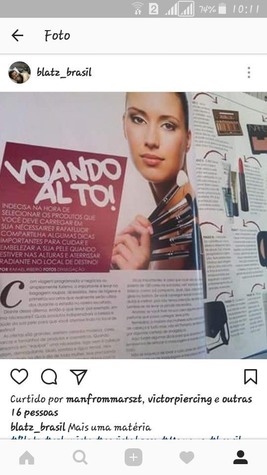 Matéria sobre MAKEUP para revista maquiagem maquiador(a)
