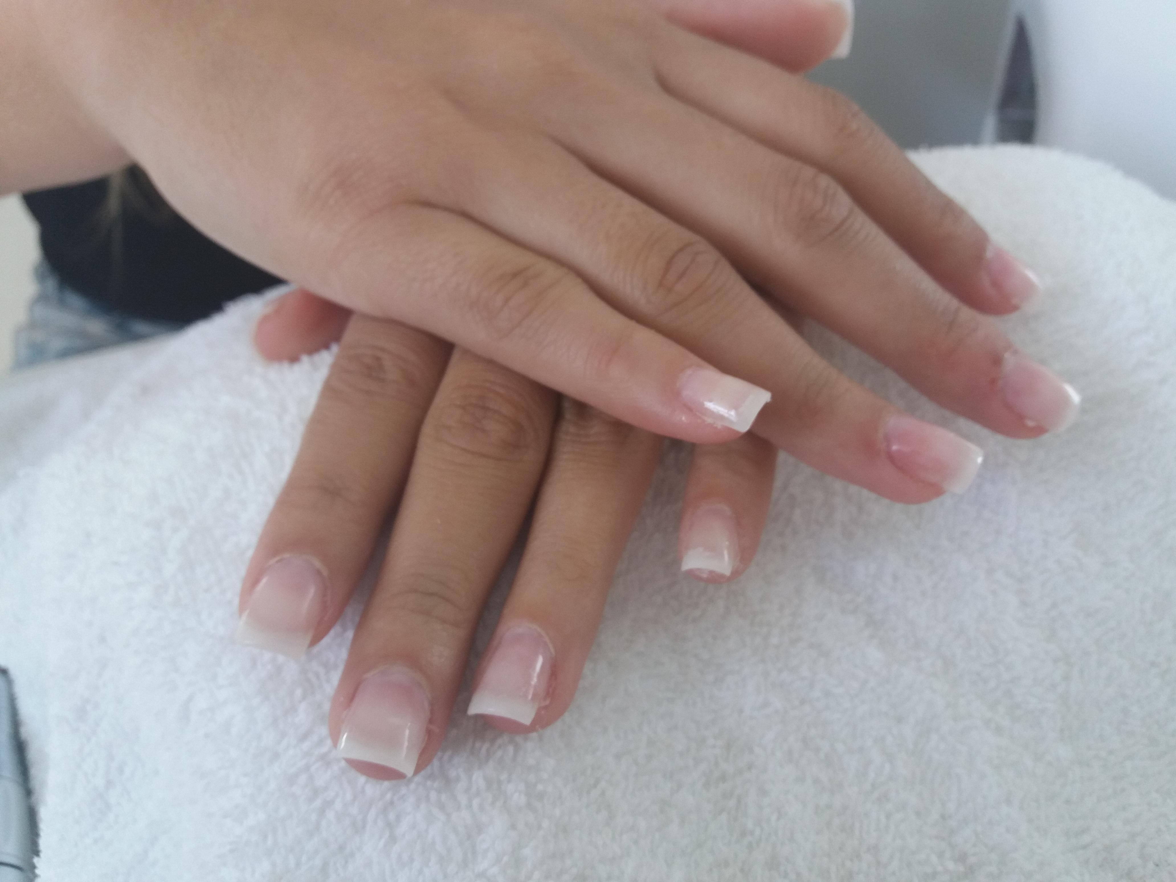 Unhas de acrigel  unha manicure e pedicure recepcionista auxiliar cabeleireiro(a)