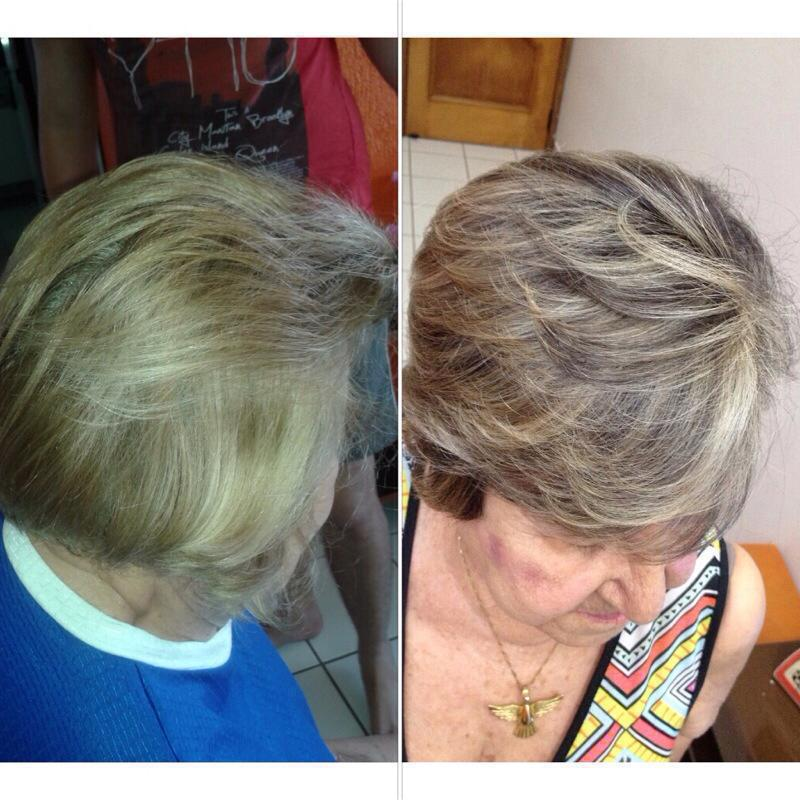 Correção de cor #mechas cabelo auxiliar cabeleireiro(a)