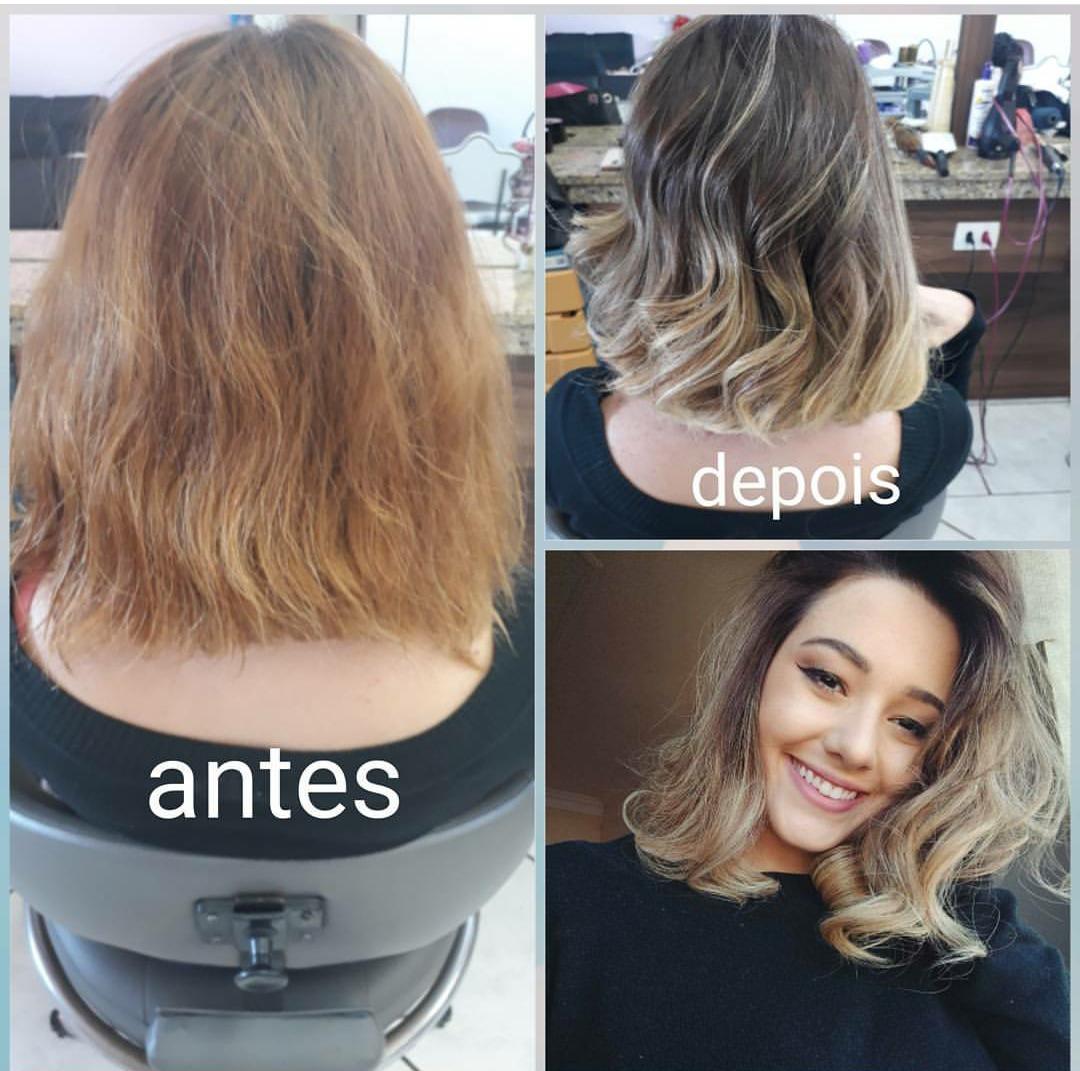 Mudança de cor,do ruivo para o loiro cabelo auxiliar cabeleireiro(a) auxiliar administrativo