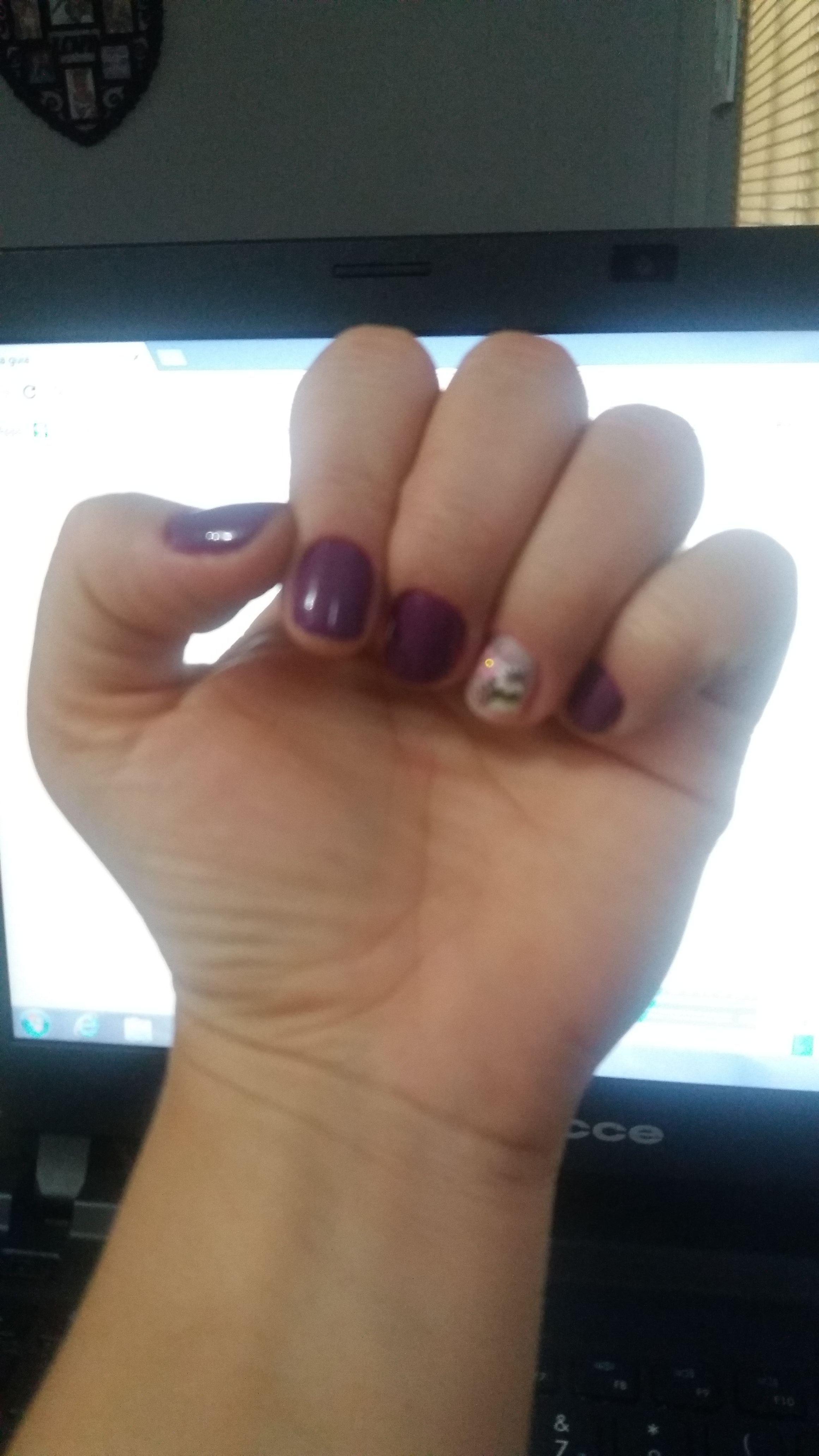 Esmalte Blueberry +decoração unha auxiliar administrativo manicure e pedicure estudante designer de sobrancelhas