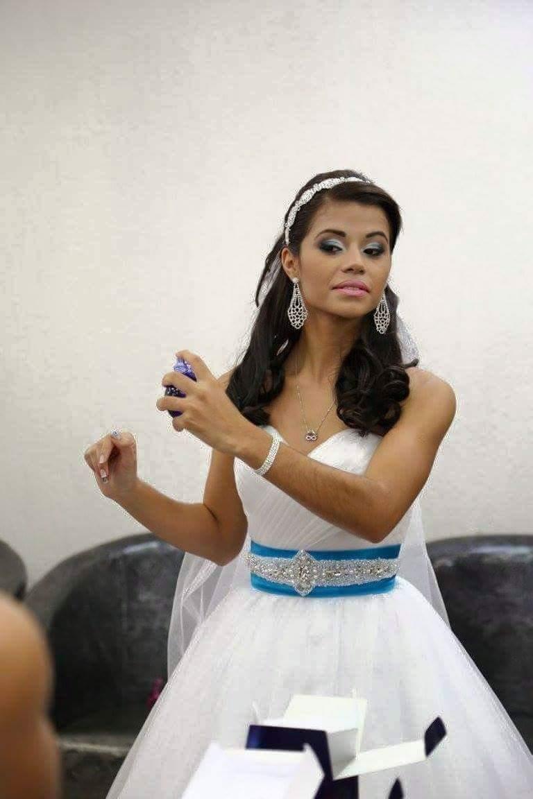 Maquiagem escolhida pela noiva . maquiagem maquiador(a)