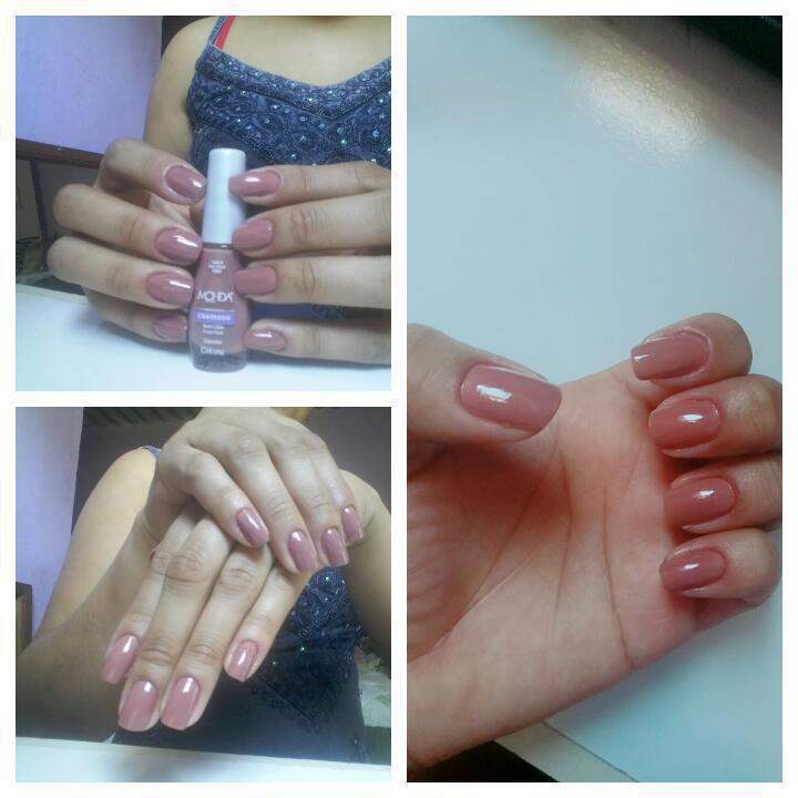 Cappucino linda cor para suas mãos  unha manicure e pedicure