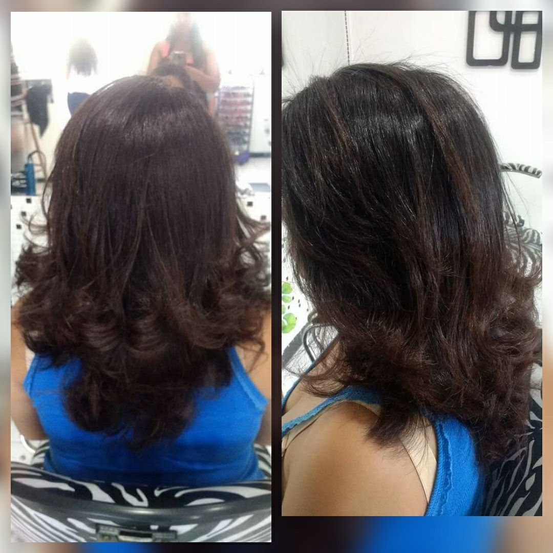 Corte repicado e escova cabelo auxiliar cabeleireiro(a)