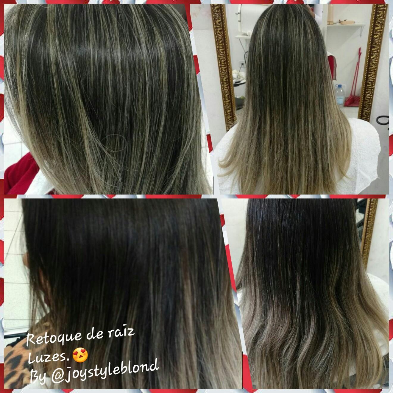 Retoque de raiz.  #Luzes. Cliente de anos.😍 cabelo cabeleireiro(a) manicure e pedicure designer de sobrancelhas
