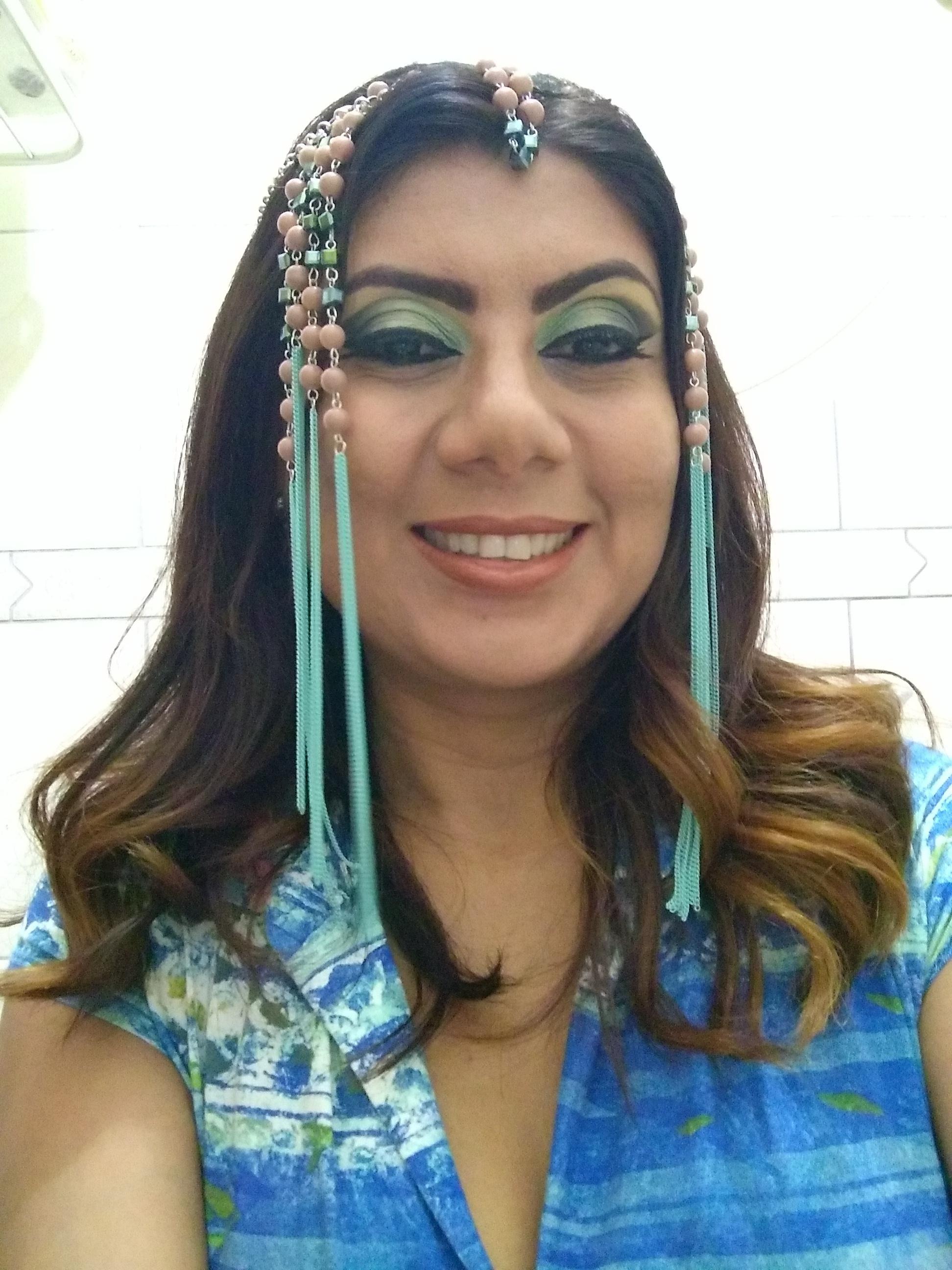 Maquiagem egípcia maquiagem estudante (maquiador)