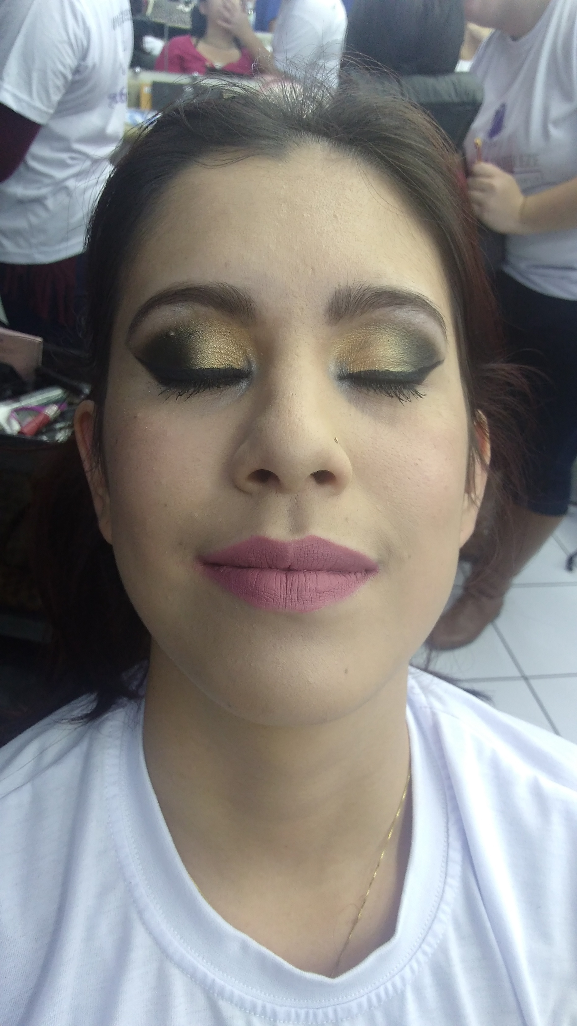 Maquiagem noite maquiagem estudante (maquiador)