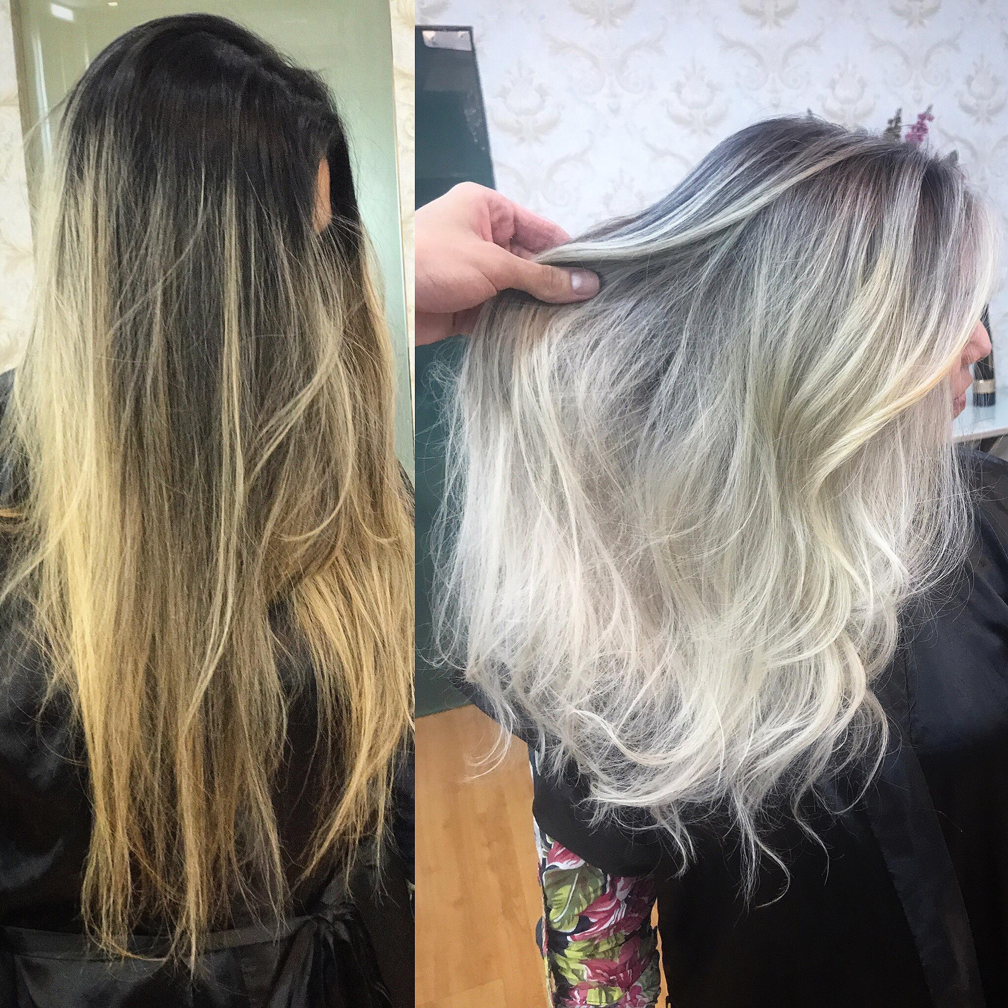 Antes e depois  Correção de cor  By: @cabelosdogugu  #Tudodemaismoderno cabelo