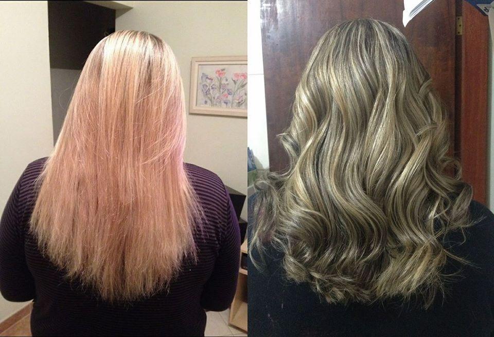 Mechas invertidas, leve ondulação, revelando um estilo romantinco e suave. cabelo cabeleireiro(a)